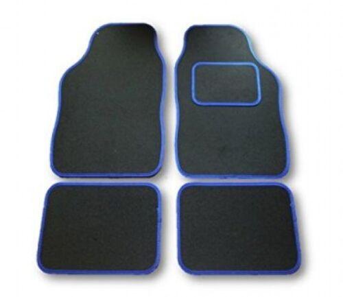 01-07 Vauxhall Corsa C negro y ribete azul coche tapetes