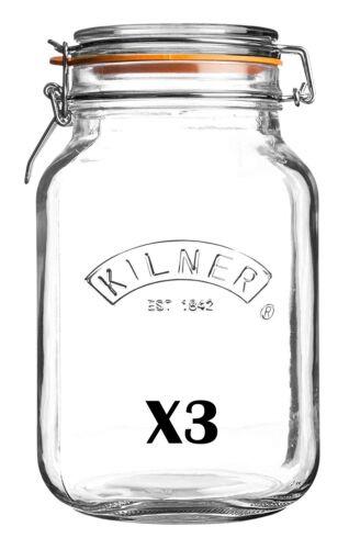 Kilner Carré En Verre Haut Jar 1.5 L Conditionnement MULTIPLE DE 3 921