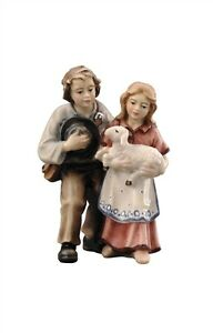 Children-statue-wood-carving-for-Nativity-set-mod-912