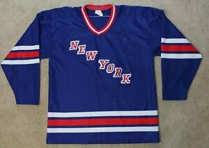 CCM-New-York-Rangers-Hockey-Jersey-VIntage-Large-Blue