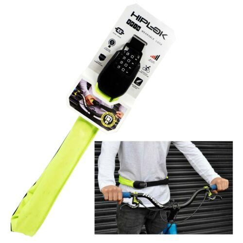 "Hiplok Spin 75cm Combo Chain Bike Lock fits 26-44/"" Waist Belt Black Yellow"