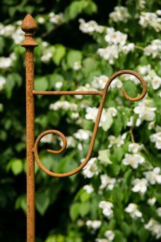 190cm Laternenhaken zum Stecken Blumenampel Stabiler Laternenstab in Rost H
