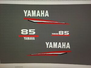 Yamaha Outboard 85 hp 2 STROKE Decal Sticker Kit Marine vinyl