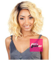 Bs206 - Isis Collection Brown Sugar Human Hair Style Mix Swiss Lace Front Wig