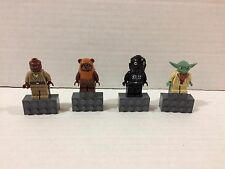 Lego Star Wars Yoda Mace Windu Ewok Wicket Tie Defender Pilot Magnet Minifigures