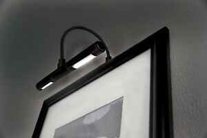 Image Is Loading Led Picture Frame Light Battery Operated Black Wall