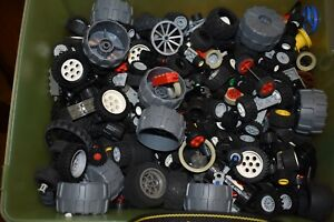 Lego-BY-THE-Half-POUND-Wheels-Parts-Authentic-Tires-Axles-Car-Vehicle-Random