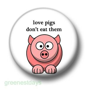 25mm Pin Badge I Love Pigs Badge Various Pack Sizes