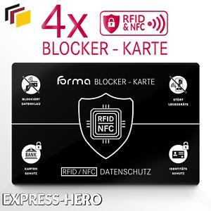 4x-RFID-Blocker-Karte-NFC-Schutzkarte-EC-Karten-Schutz-kreditkarten-Card-Signal