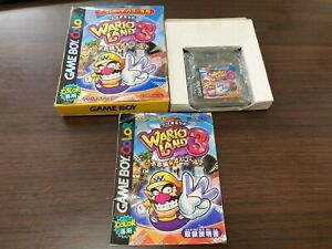GameBoy-Color-WARIO-LAND-3-GBC-with-BOX-and-Manual