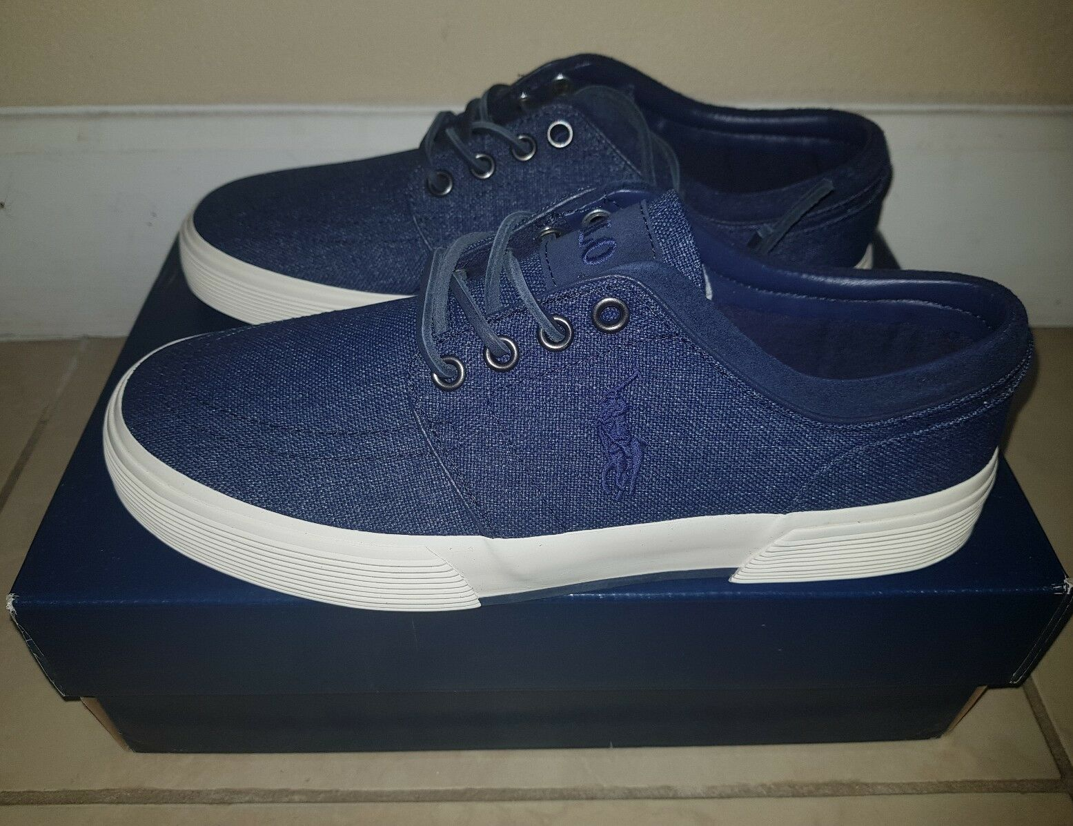 POLO RALPH LAUREN FAXON LOW  NWT NVY IN BOX NEW 7 USA  6 UK