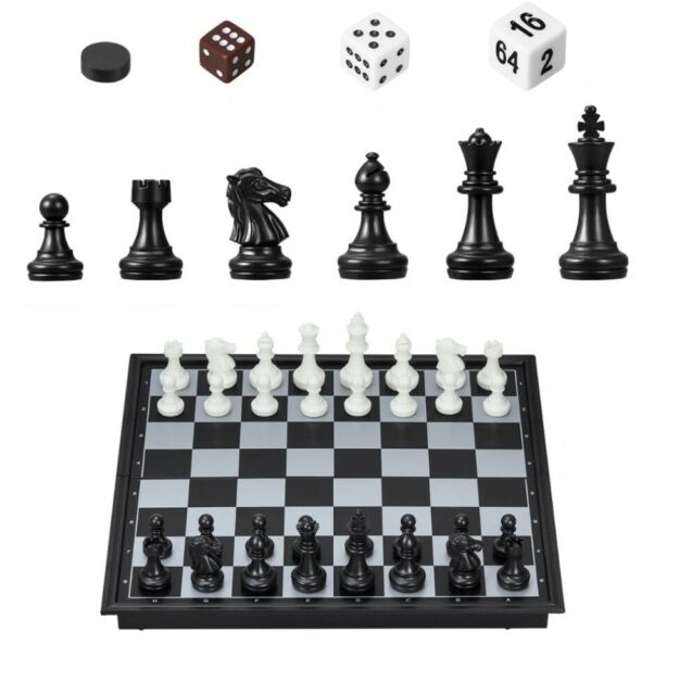 Large Chess Wooden Set Folding Chessboard Magnetic Pieces Wood Board Portable