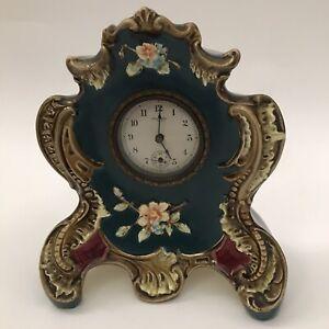NEW HAVEN MAJOLICA CLOCK c.1890 WORKING DESK BEDROOM CONNECTICUT