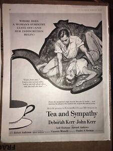 1956-10x13-Vintage-MGM-Tea-and-Sympathy-Movie-Deborah-amp-John-Kerr-Magazine-AD