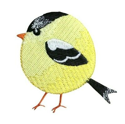 Goldfinch Bird Embroidered Iron On Applique Patch Finch Bird Watching