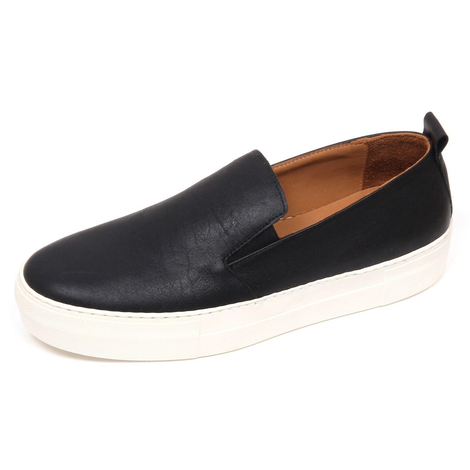 D6196 sneaker uomo nero 14ÈME ARRONDISSEMENT schwarz slip on shoe man