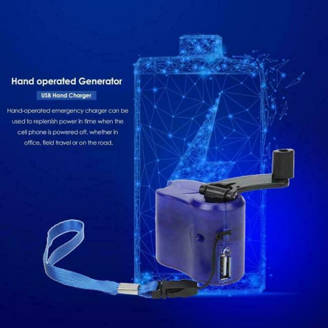 Emergency Power Manual USB Hand Crank Phone Charger Charging Dynamo Generator US