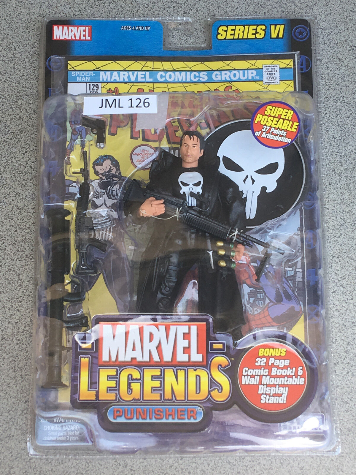 MARVEL LEGENDS 6  Series 6 Punisher (JML 126)