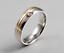 Anello-Anelli-Coppia-Fedi-Fede-Fedine-Fidanzamento-Nuziali-Cristallo-Oro-Fascia miniatura 6