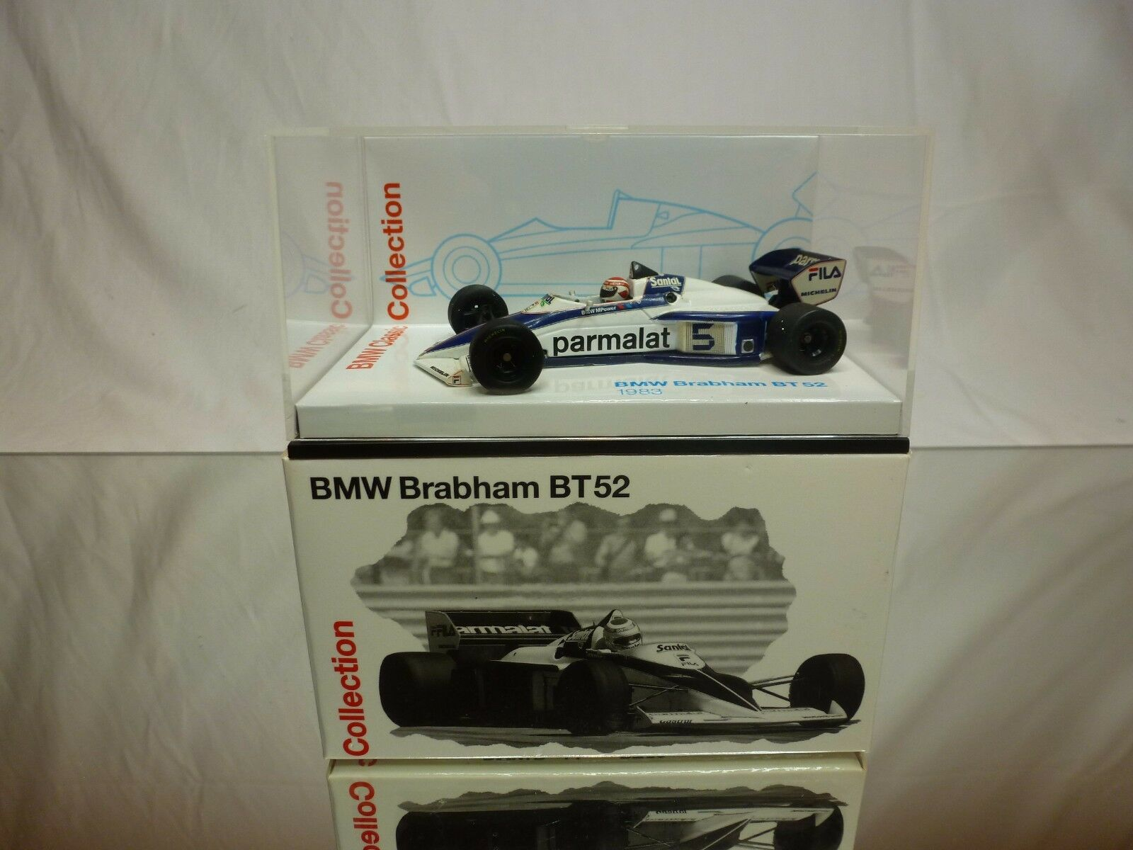 MINICHAMPS BMW BRABHAM BT52 1983 - PARMALAT blanc 1 43 - GOOD CONDITION IN BOX
