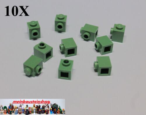 Noppen Sandgrün Green NEU 10X Lego 87087 Basic Steine Konverter 1X1  1 seitl