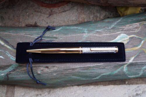 Swarovski 5224389 CRYSTALLINE BALLPOINT PEN GOLD TONE NIB Authentic