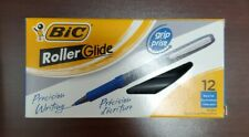 Bic Roller Glide Grip Extra Fine Point Pen Blue 12 Count Free Shipping
