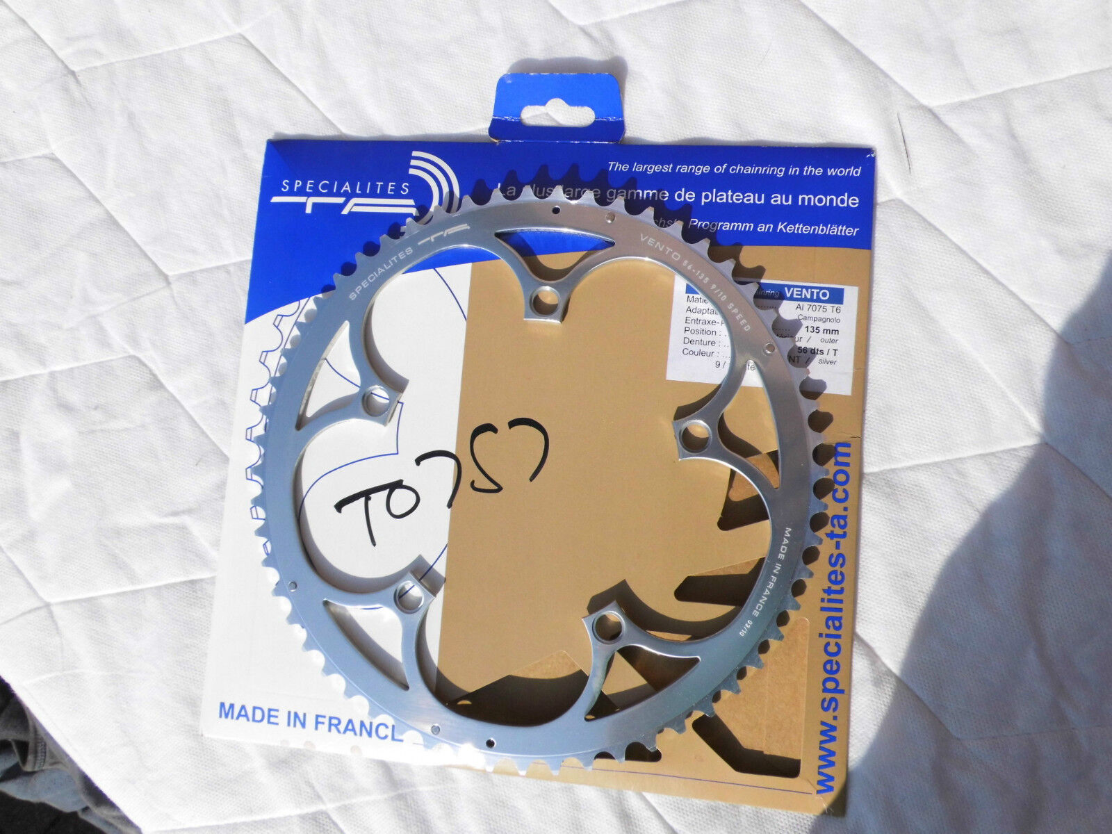 NEW TA specialities VENTO chainring 56t 135mm 8 9 10 speed 7075 (zicral) alloy