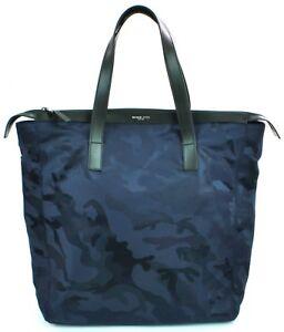 Details About Michael Kors Mens Kent Nylon Navy Blue Camouflage Travel Bag Large
