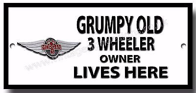 GRUMPY OLD LANDROVER SERIES 3 OWNER LIVES HERE FINISH METAL SIGN.