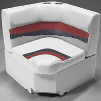 28 Corner Pontoon Seat In Gray, Red And Charcoal