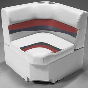 28 Corner Pontoon Furniture Seat In Gray Red And Charcoal Ebay