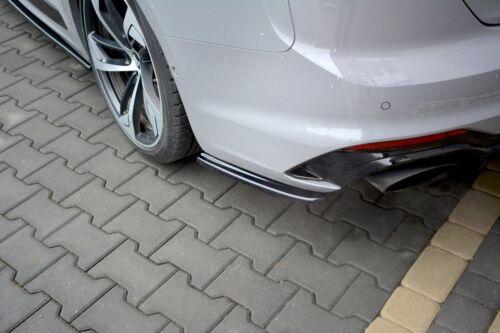 Cup Diffusor Seiten Ansätze für Audi RS5 MK2 F5 A5 S5 Heckansatz Side Flaps