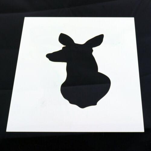 Plantilla de Ciervo Ciervo Doe Roe animales Mylar Hoja Pintura Arte Craft 190 micras