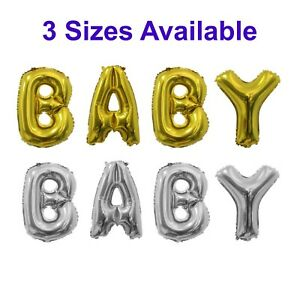 Baby Shower Letter Balloons.Details About Baby Balloons Gold Silver Foil Letter Balloons Baby Shower Decorations 3 Sizes