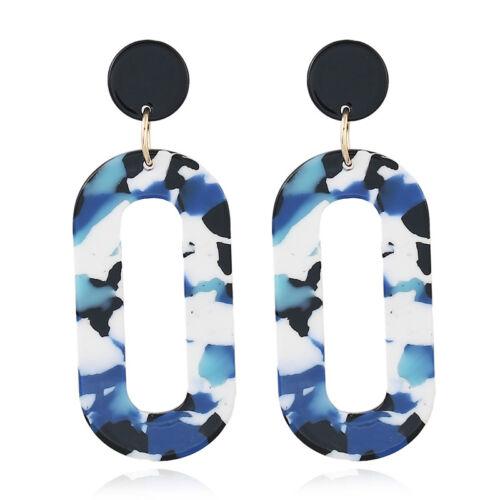 Fashion Femmes Acrylique Géométrique Pendentif Dangle Drop Statement Boucles D/'oreilles Bijoux