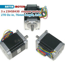 3pcs Nema23 76mm 270 Oz In 3a Cnc Stepperstepping Motor 4leads For Cnc Router