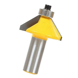 Carbide Tipped Durable Power Tools 50mm 45 Degree Chamfer Router Bit Tables Woodworking Tools for Door 1//2 Shank Flooring