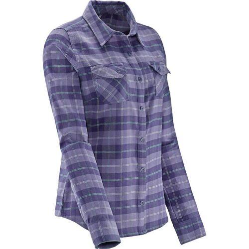 """Salomon """"mystic"""" plaid flannel button up purple sh"""