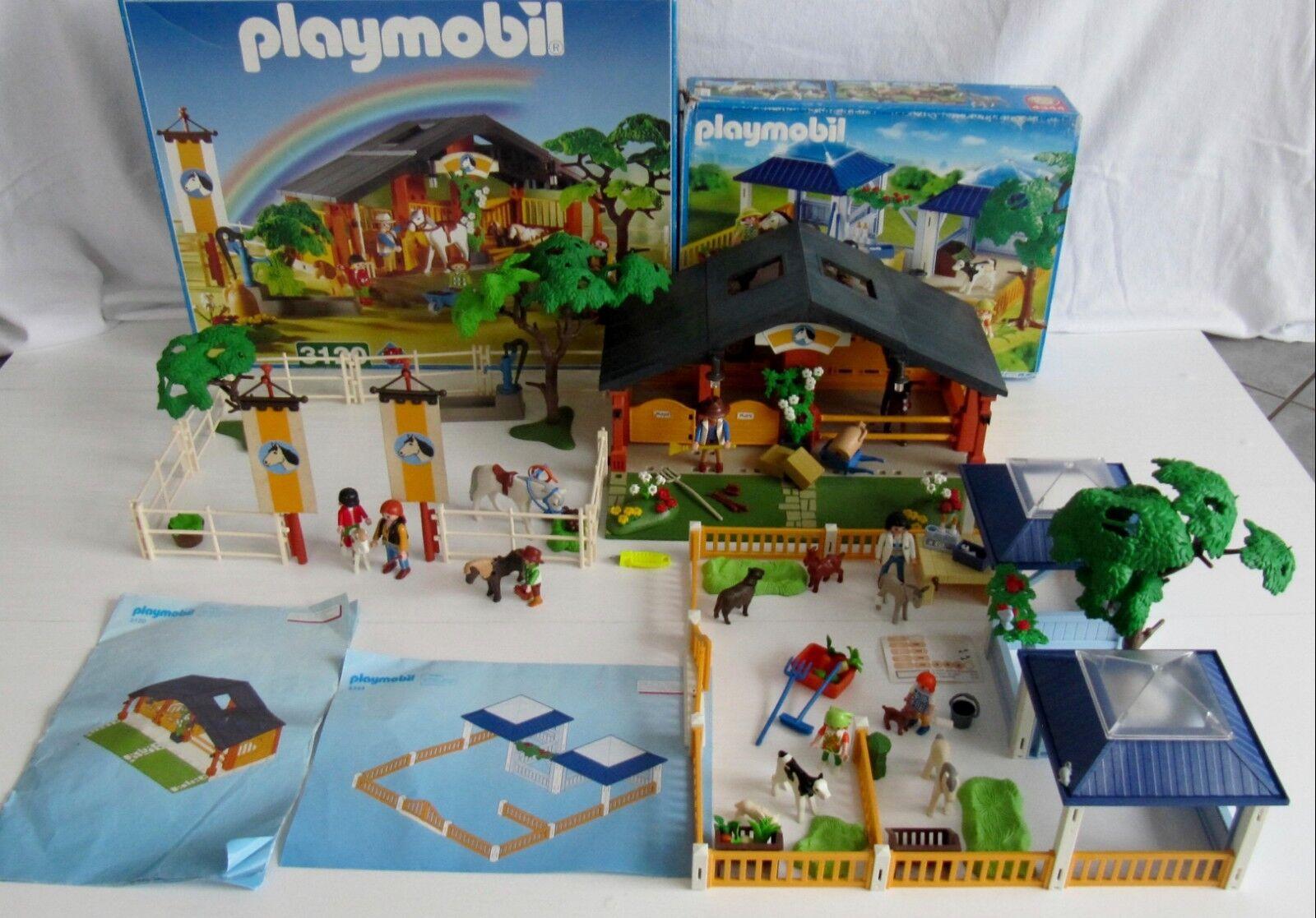 Fantastico Set  PLAYMOBIL  reiterhof 3120 + cura degli animali Station 4344    con Ba e OVP  punto vendita