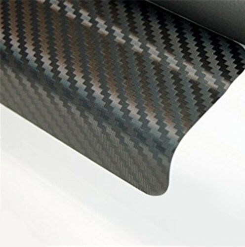 4x Car Door Sill Welcome Scuff Pedal Protect Carbon Fiber Sticker Front /& Rear