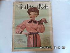 LE PETIT ECHO DE LA MODE N°5 29/01/1939 MODE POUR LES VISITES LES MARIAGES   K39