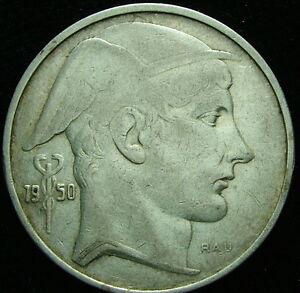 1950 Belgique Belgique Belgie 20 Franc Francs Argent Oumoxepd-08004732-980767713
