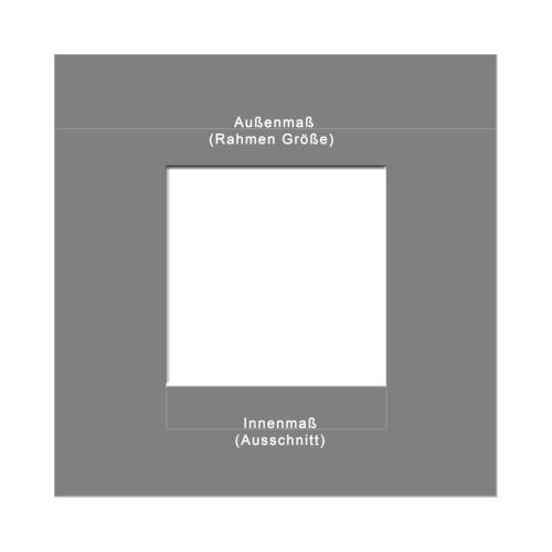 Passepartout für Bilderrahmen Standard Sandstein und Pergament Elfenbein