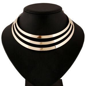 Mode-Frauen-Hohle-Choker-Verein-Partei-Mehrschichtige-Halskette-Punk-Halske-S5H6