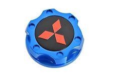 BLUE CNC BILLET RACING ENGINE OIL FILL CAP FOR 08-15 MITSUBISHI LANCER EVO X RD
