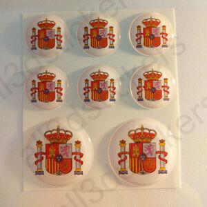 Pegatinas-Espana-Escudo-de-Armas-Vinilo-3D-Relieve-Pegatina-Espana-Redondas-Moto