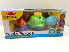 NIB Melissa & Doug Turtle Parade Roll Along Wind Up 9+ Toy NEW