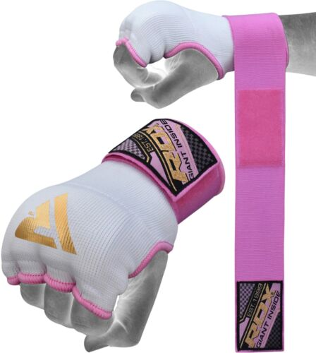 RDX Ladies Inner Hand Quick Wraps Gloves Boxing Fist Pink Bandages MMA Women Gym