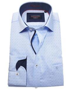 Casa-Moda-Modern-Fit-Premium-Langarmhemd-blau-Kleinkarodessin-Gr-40-bis-48